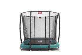 Berg trampoline inground eazyfit + safetynet eazyfit 220 x 330 cm groen