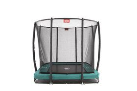 Berg trampoline inground Ultim Champion + safetynet 220 x 330 cm groen
