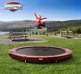 Berg Elite trampoline inground 380 cm rood