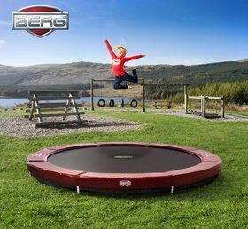 Berg Elite trampoline inground 430 cm rood