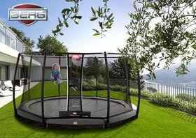 Berg Champion trampoline inground + safetynet deluxe 380 cm grijs