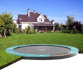 Berg FlatGround Champion trampoline 380 cm groen.