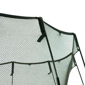 Springfree S113 grote vierkant trampoline op poten + safetynet 340 x 340 cm zwart
