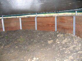 Trampoline bekisting 430 cm , 3 - planken hoog.