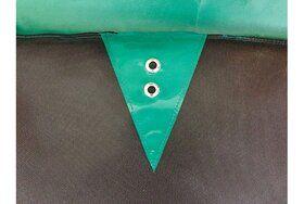 Akrobat Orbit trampoline op poten rechthoekig 300 x 180 cm met medium beschermrand groen