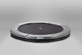 12 Springs Extra Super Bouncer trampoline inground 430 cm met premium beschermrand grijs