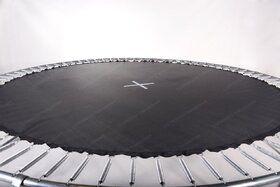 12 Springs Extra Super Bouncer trampoline inground 305 cm met premium beschermrand grijs