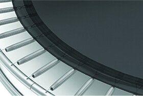 Akrobat Primus professionele trampoline Flat to the Ground 250 cm met premium beschermrand grijs