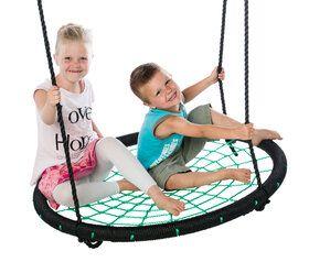 Déko-Play nestschommel, zwart/groen