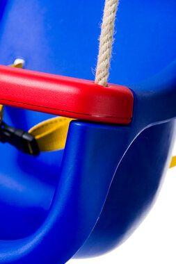 Déko-Play peuter schommel de luxe Blauw met PH touwen
