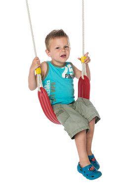 Déko-Play schommelzitje flexibel kunststof rood