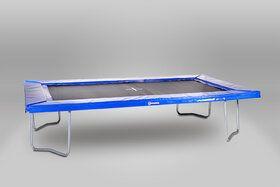 12 Springs Rekrea Bouncer Extra trampoline op poten 431 x 255 cm met premium beschermrand blauw