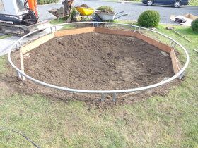 12 Springs Extra trampoline inground 430 cm met premium beschermrand groen