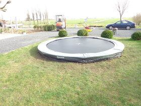 12 Springs Extra trampoline inground 430 cm met premium beschermrand grijs