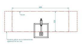 Professionele thermisch verzinkte L-schommel 1 staander met 2 haken