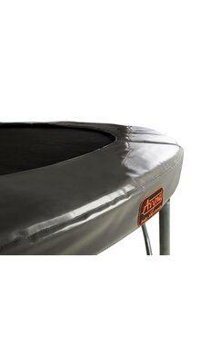 Avyna Pro-line trampoline op poten met veiligheidsnet en glasfiber 430 cm met premium beschermrand grijs HD Plus