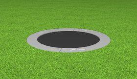 Akrobat Grasshopper trampoline inground 365 cm met medium beschermrand grijs