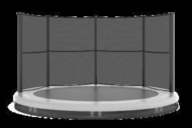 Akrobat Grasshopper trampoline inground 305 cm met medium beschermrand grijs