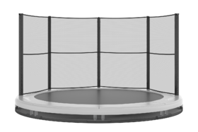 Akrobat Orbit Inground Trampoline 365 Grijs