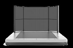 Akrobat Grasshopper trampoline inground rechthoekig 330 x 250 cm met medium beschermrand grijs