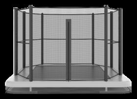 Akrobat Primus trampoline Flat to the Ground rechthoekig 520 x 310 cm met premium beschermrand zwart