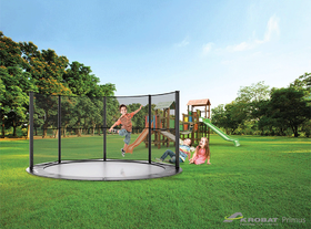 Akrobat Primus Flat to the Ground Trampoline 305 Zwart