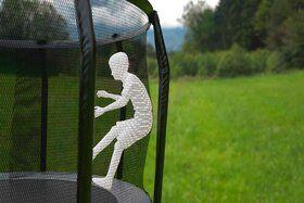 Akrobat Stormer trampoline 365 cm met veiligheidsnet grijs