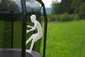 Akrobat Stormer trampoline 430 cm met veiligheidsnet grijs