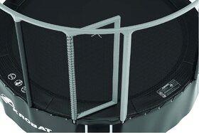 Akrobat Gallus trampoline 305 cm met heavy duty veiligheidsnet grijs
