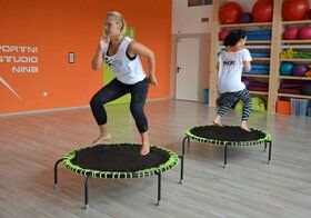 Akrobat Mini trampoline Aerobic speed bouncer 120 cm met handbeugel