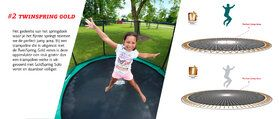 Berg Elite trampoline inground 380 cm grijs