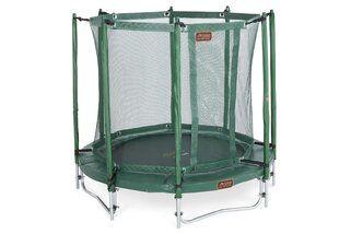 Avyna Pro-line trampoline op poten met veiligheidsnet 200 cm met medium beschermrand groen Groen