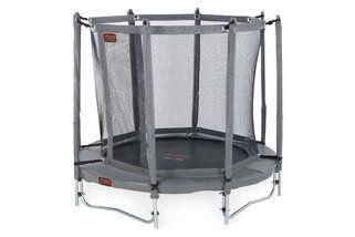 Avyna Pro-line trampoline op poten met veiligheidsnet 200 cm met medium beschermrand grijs Grijs