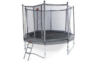 Avyna Pro-line trampoline op poten met veiligheidsnet 430 cm met medium beschermrand grijs Grijs