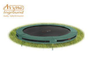 Avyna Pro-line trampoline inground 245 cm met medium beschermrand groen Groen