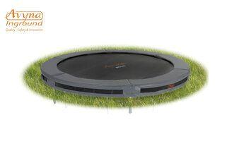 Avyna Pro-line trampoline inground 245 cm met medium beschermrand grijs Grijs