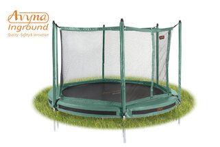 Avyna Pro-line trampoline inground met veiligheidsnet 305 cm met medium beschermrand groen Groen