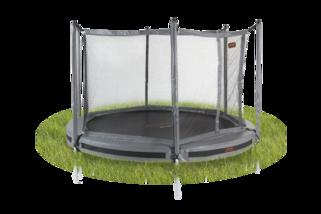 Avyna Pro-line trampoline inground met veiligheidsnet 305 cm met medium beschermrand grijs Grijs