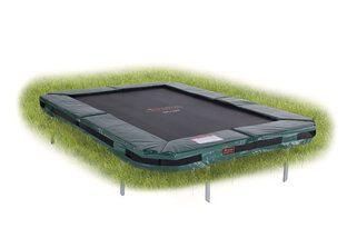 Avyna Pro-line trampoline inground rechthoekig 215 x 155 cm met medium beschermrand groen Groen