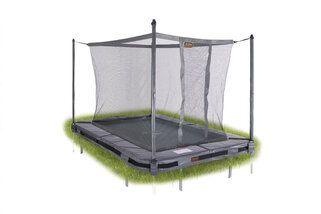 Avyna Pro-line trampoline inground rechthoekig met veiligheidsnet 215 x 155 cm met medium beschermrand grijs Grijs