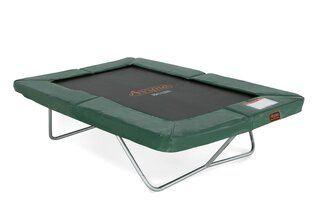 Avyna Pro-line trampoline op poten rechthoekig 213 cm met medium beschermrand groen Groen