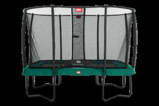 Berg trampoline op poten Ultim Champion + safetynet deluxe 220 x 330 cm groen Groen