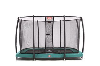 Berg trampoline inground Ultim Champion + safetynet 220 x 330 cm groen Groen