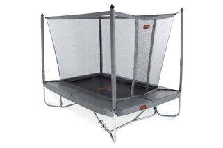 Avyna Pro-line trampoline op poten rechthoekig met veiligheidsnet 275 x 190 cm met medium beschermrand grijs Grijs