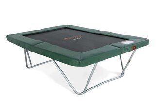 Avyna Pro-line trampoline op poten rechthoekig 300 x 225 cm met medium beschermrand groen Groen