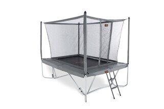 Avyna Pro-line trampoline op poten rechthoekig met veiligheidsnet 300 x 225 cm met medium beschermrand grijs Grijs