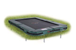 Avyna Pro-line trampoline inground rechthoekig 300 x 225 cm met medium beschermrand groen Groen