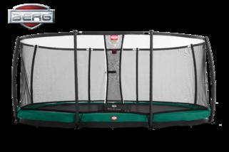 Berg Grand champion trampoline inground + safetynet deluxe 515 x 365 cm groen Groen