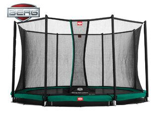 Berg Champion trampoline inground + safetynet comfort 430 cm groen Groen