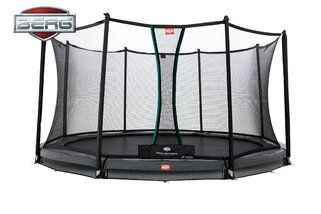Berg Champion trampoline inground + safetynet comfort 430 cm grijs Grijs
